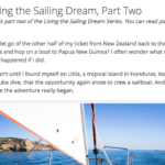 Living The Sailing Dream Part Two