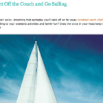 get off the couch and learn to sail