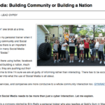 using social media to build a community