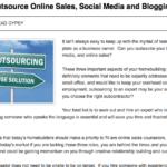 online sales, social media, and blogging