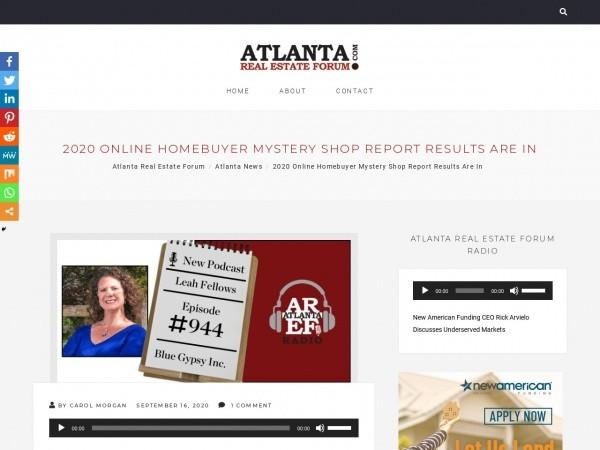screenshot of atlanta real estate forum website