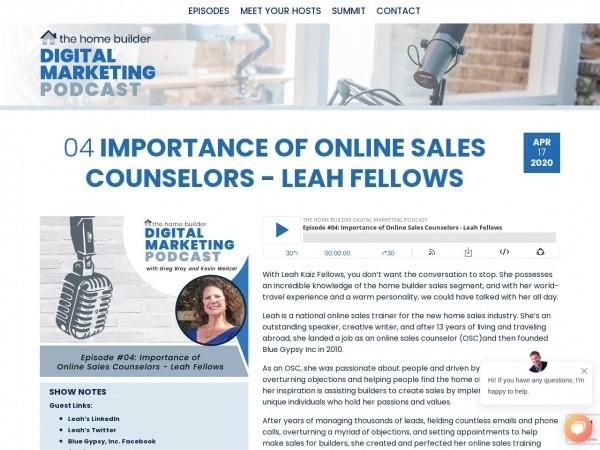 digital marketing podcast website